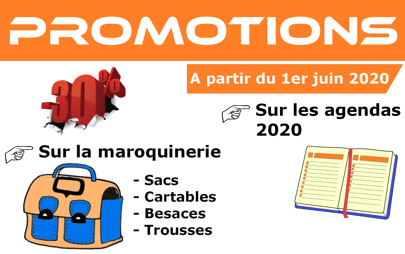 Promo papeterie